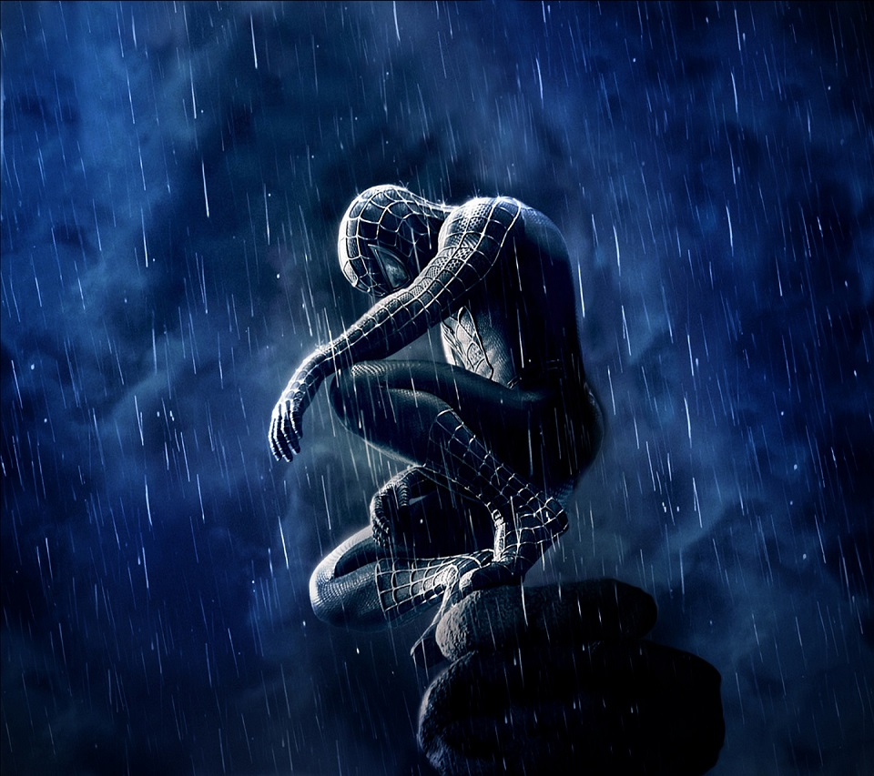 Spiderman Rain Android wallpaper HD 960x853