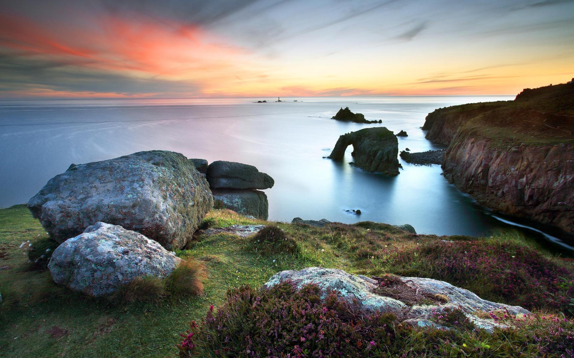 Lands End Cornwall widescreen wallpaper Wide WallpapersNET 1920x1200