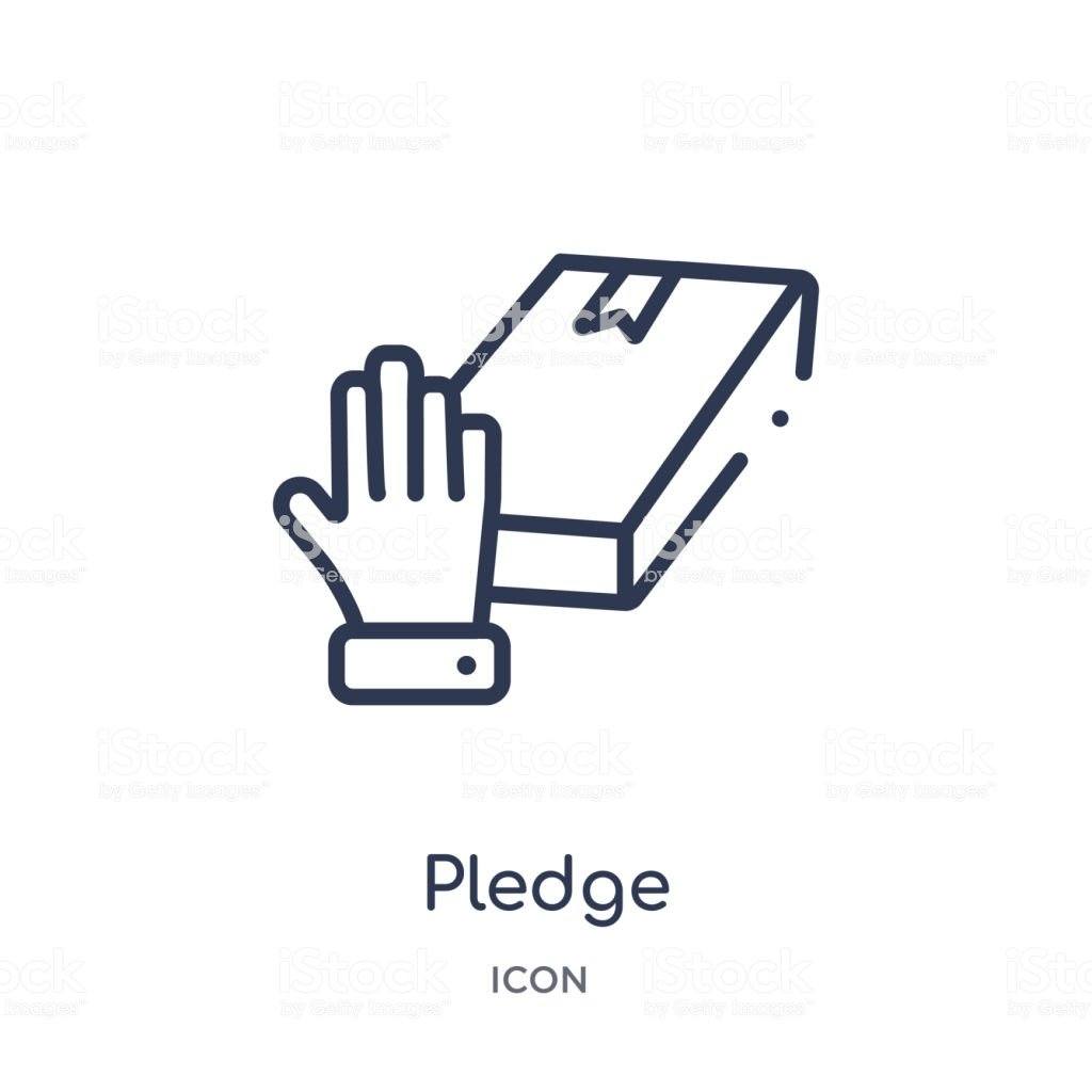 Linear Pledge Icon From Crowdfunding Outline Collection Thin Line 1024x1024