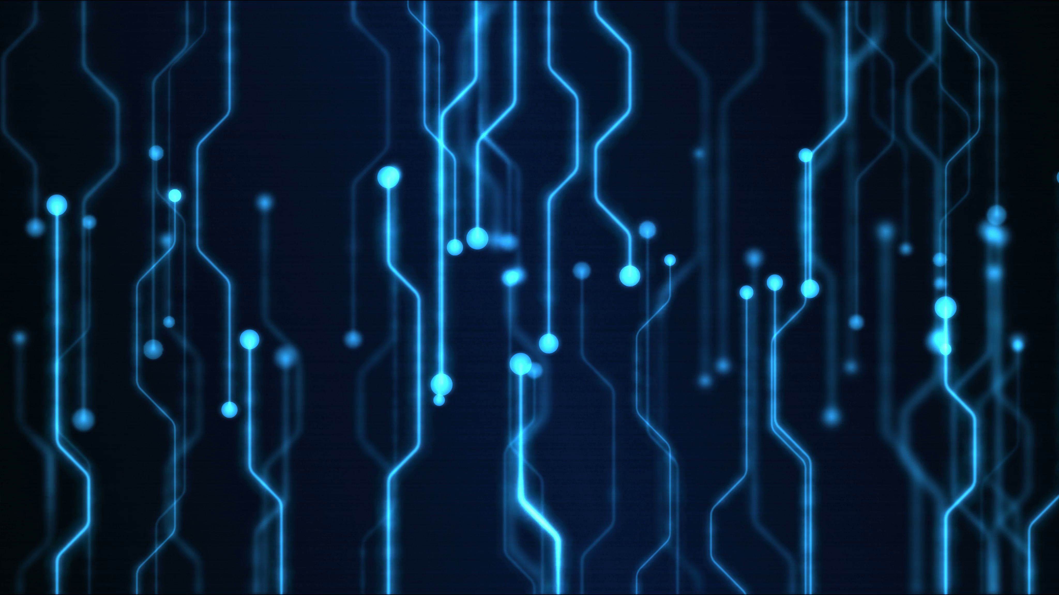abstract technology circuit background animation loop 4096x2304