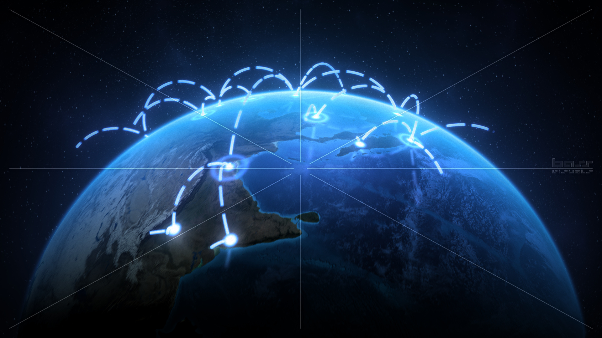 Growing Global Network Versions Bass Visuals 1920x1080
