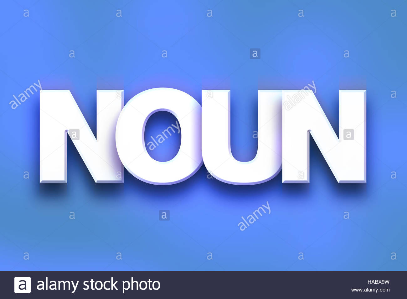 The word Noun written in white 3D letters on a colorful 1300x957