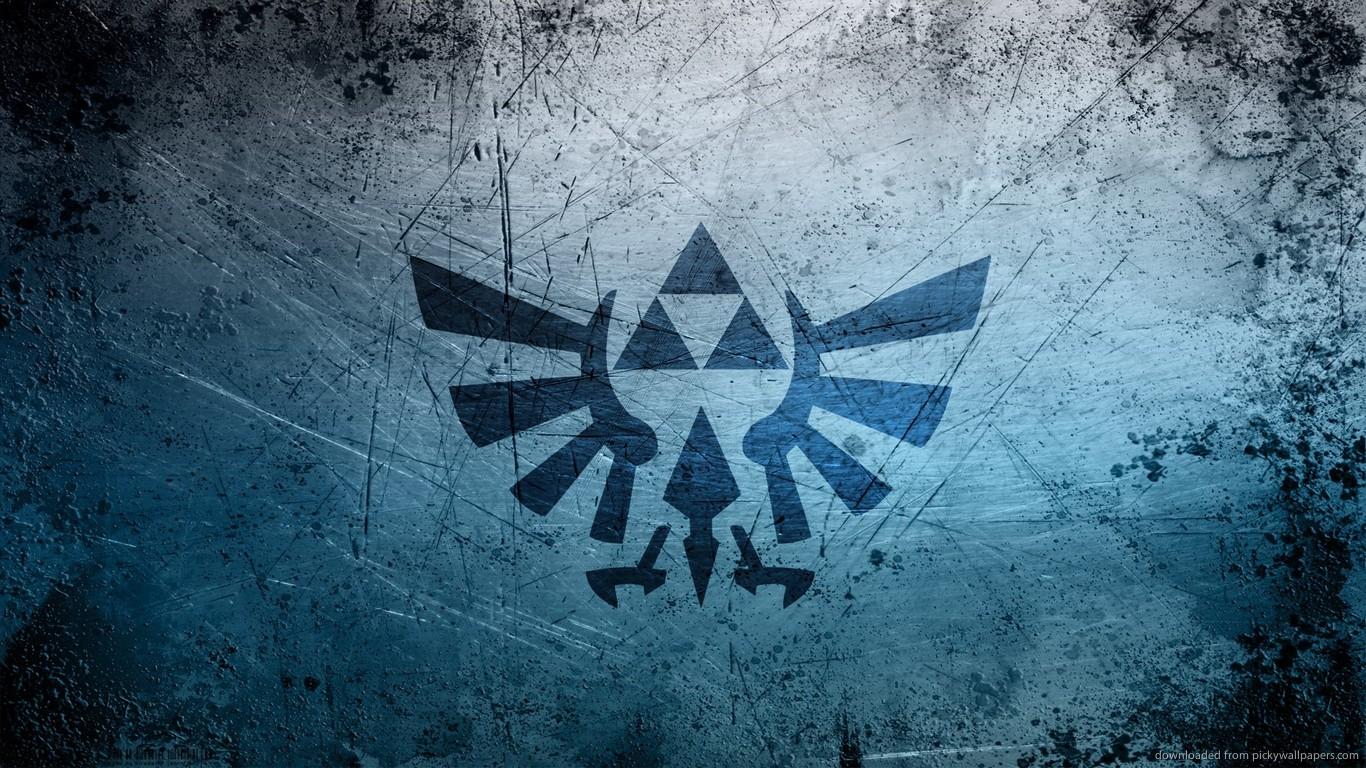 Download 1366x768 The Legend Of Zelda Grunge Logo Wallpaper 1366x768