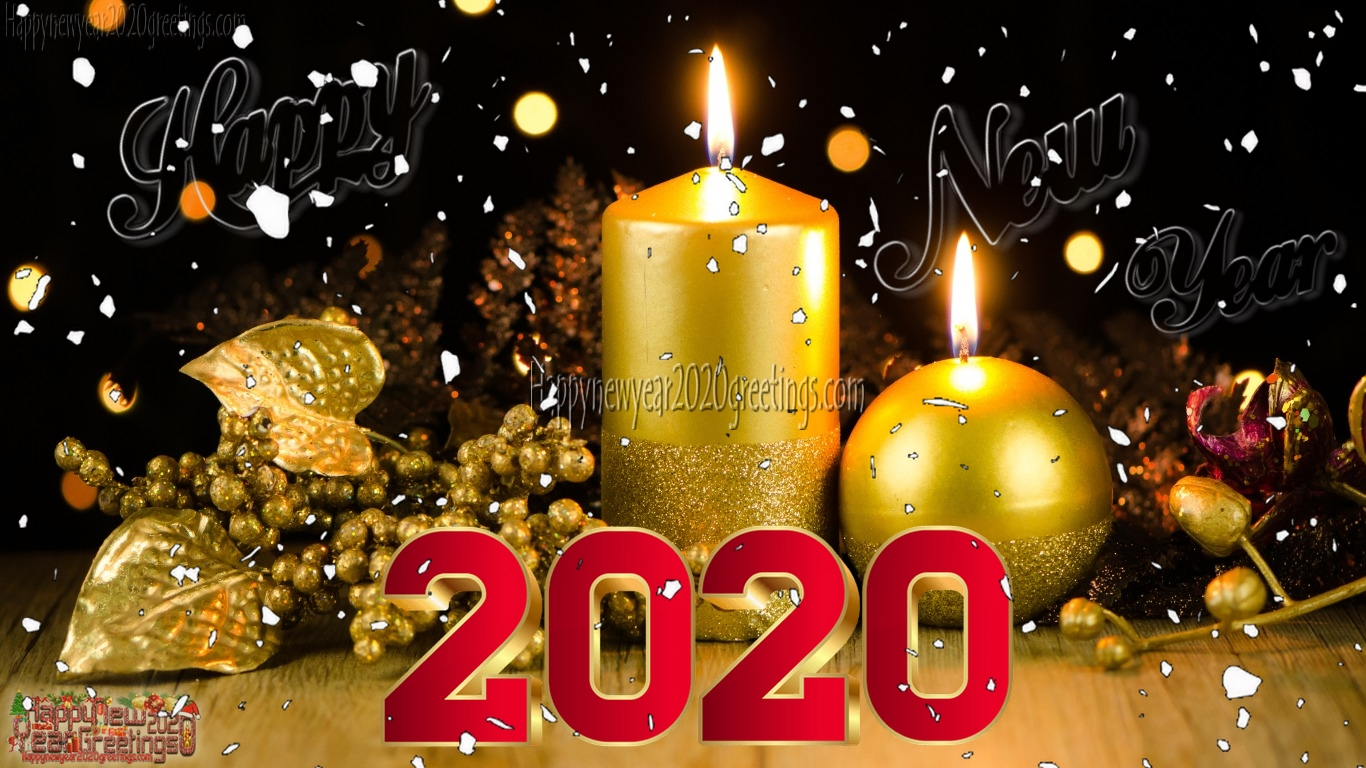 Happy New Year 2020 Full HD Desktop Wallpapers Download   New 1366x768
