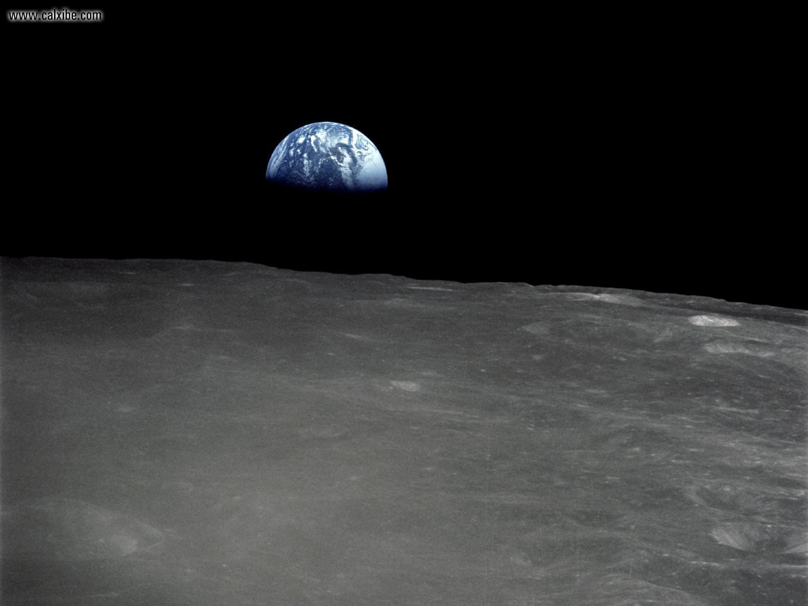 space earth rise above the moon surface picture nr 17913 tags moon 25 1600x1200