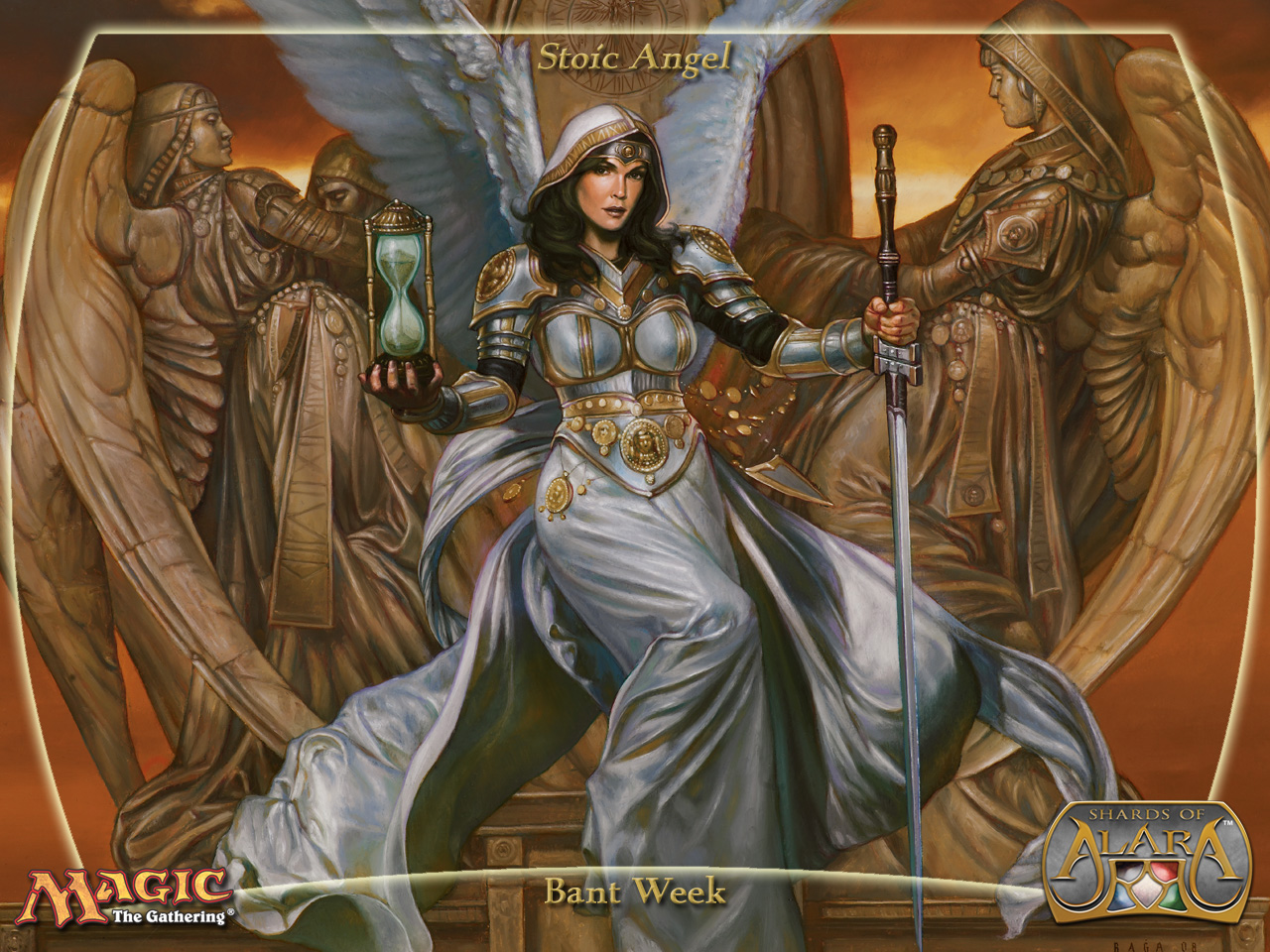 Free Download Wallpaper Of The Week Stoic Angel Daily Mtg Magic