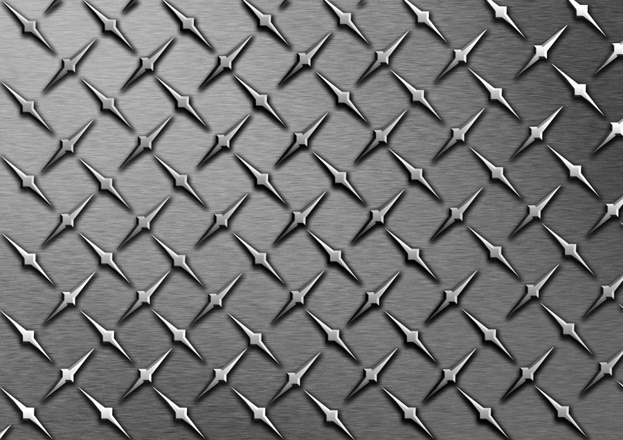 Pin Diamond Plate Wallpaper Black 900x636