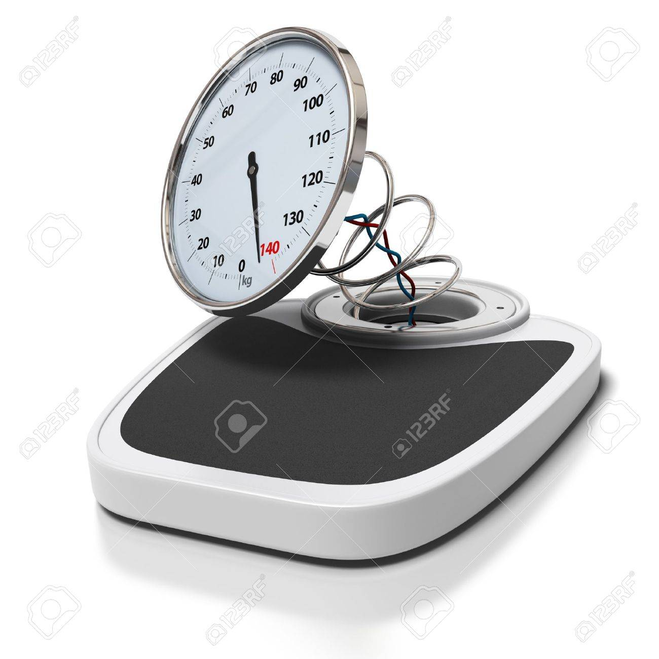 Broken Bathroom Scales Over A White Background   Overweight 1300x1300