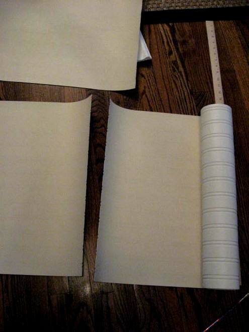 And we had a beadboard wallpaper party after many of my readers tried 495x660