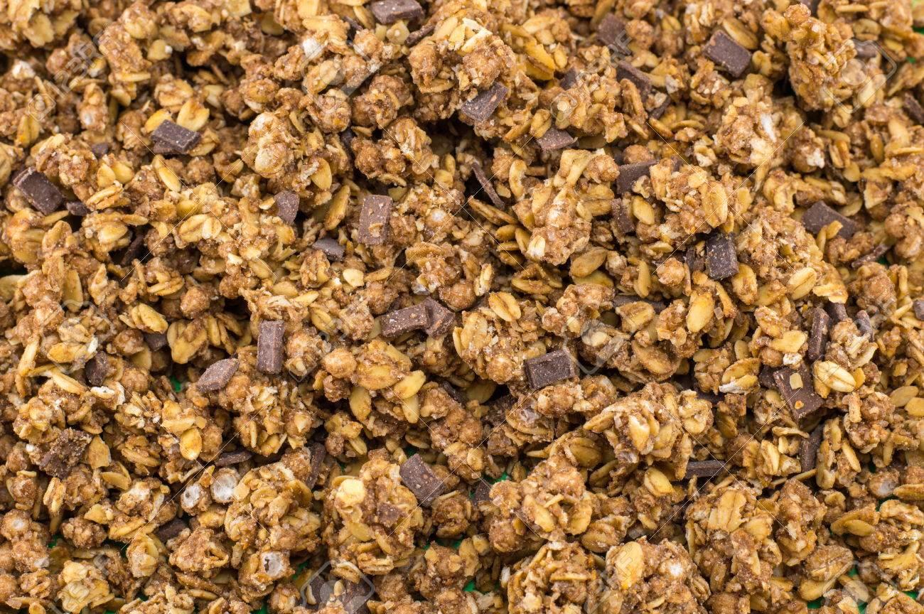Healthy Granola Muesli Cereals With Chocolate Pieces Background 1300x864