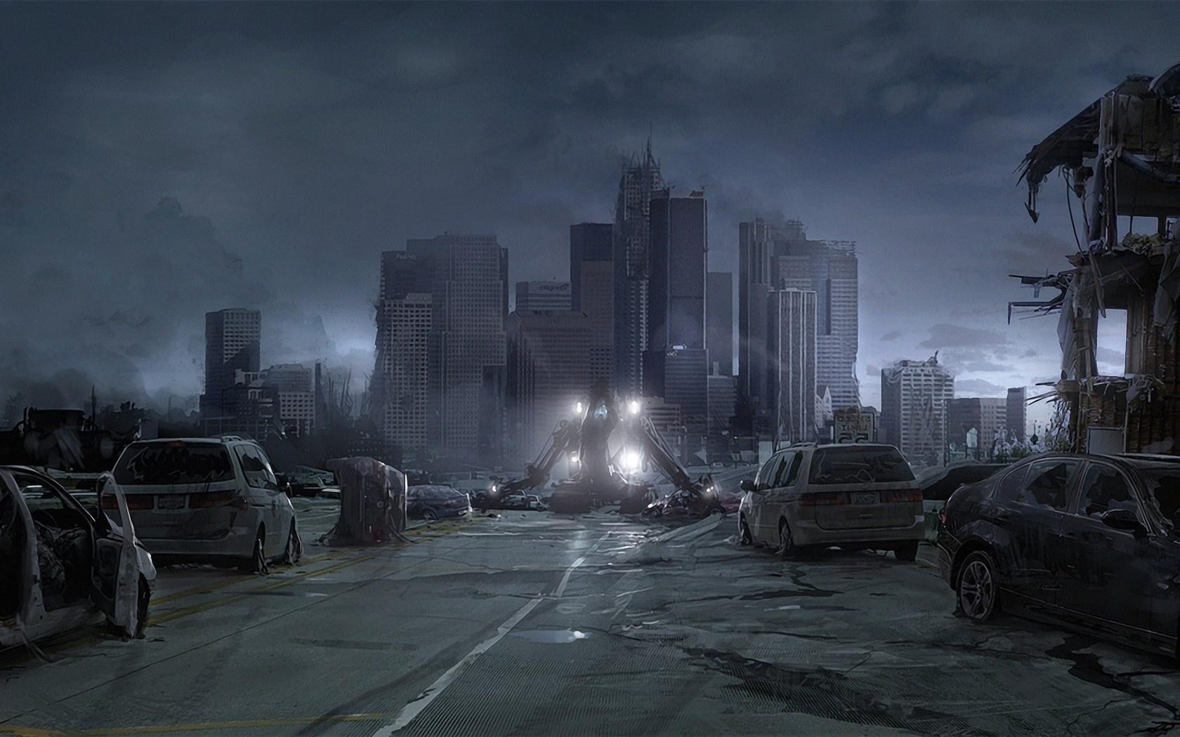 Destroyed City Backgrounds 1680x1050