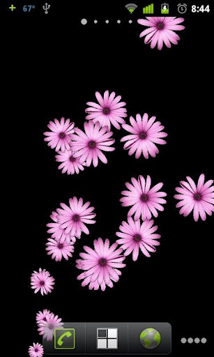View bigger   Pink Flower Live Wallpaper for Android screenshot 307x512