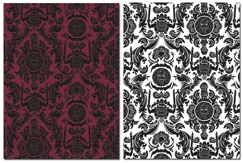 Haunted Mansion Wallpaper Stencil Wallpapersafari