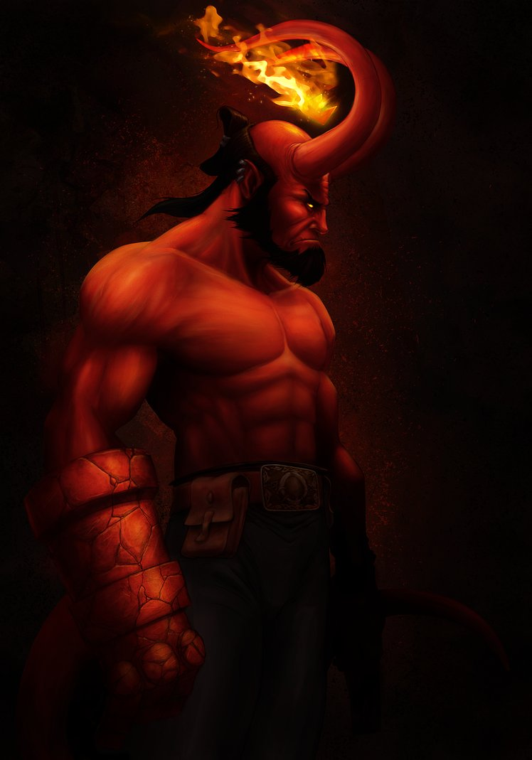 Hellboy painted Updated by MetGod 748x1069