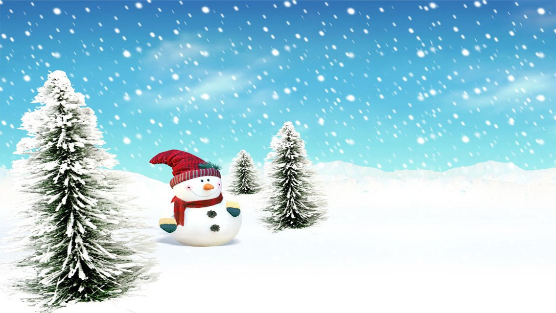 Christmas For Iphone Wallpaper: Free Snowman Wallpaper
