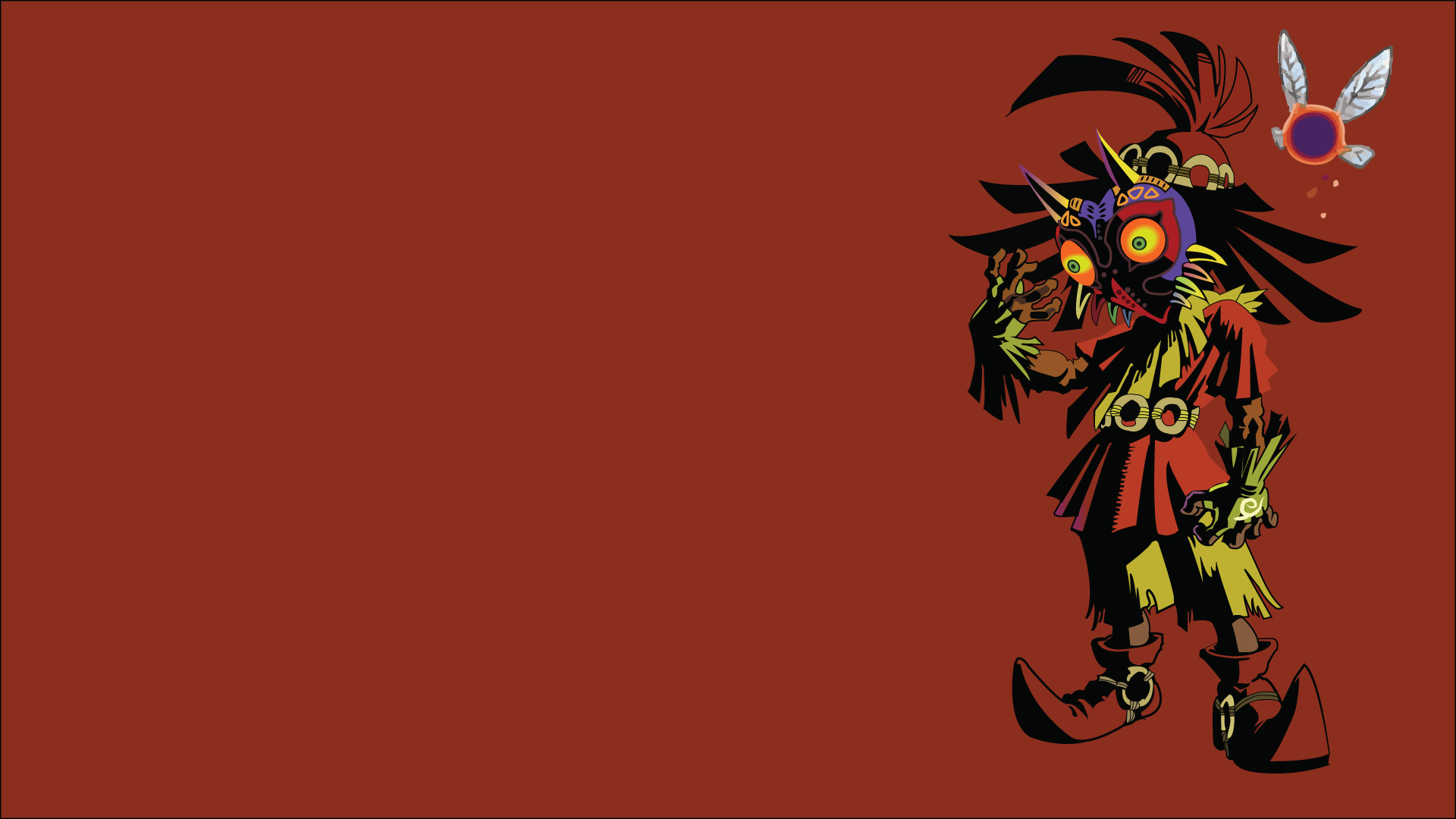 Skull Kid Wallpaper: Zelda Majora's Mask 3DS Wallpaper