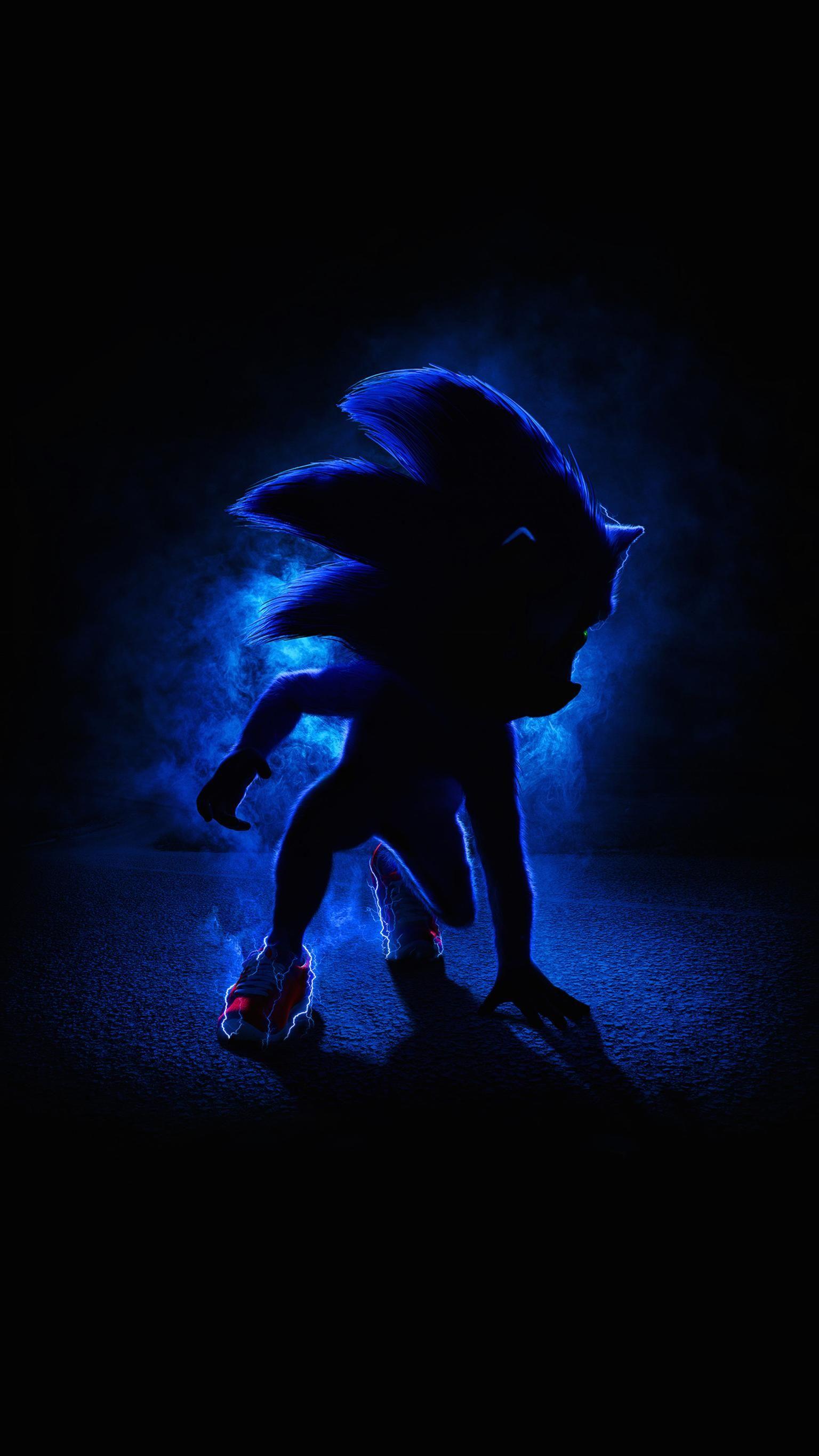 Sonic the Hedgehog 2020 Phone Wallpaper Hedgehog movie Sonic 1536x2732
