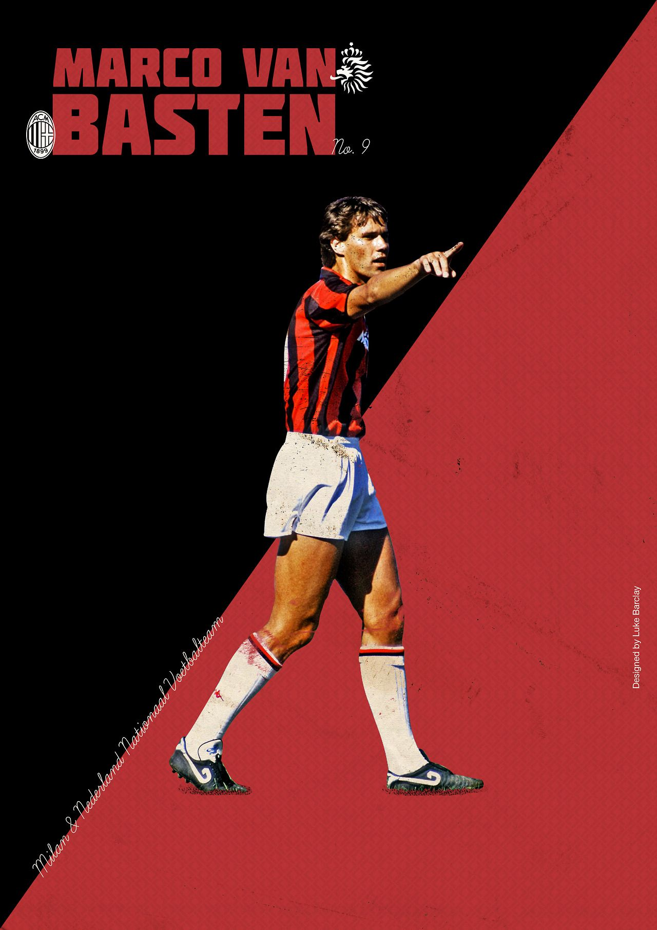 Marco Van Basten by Luke Barclay Design soccer Soccer 1280x1811