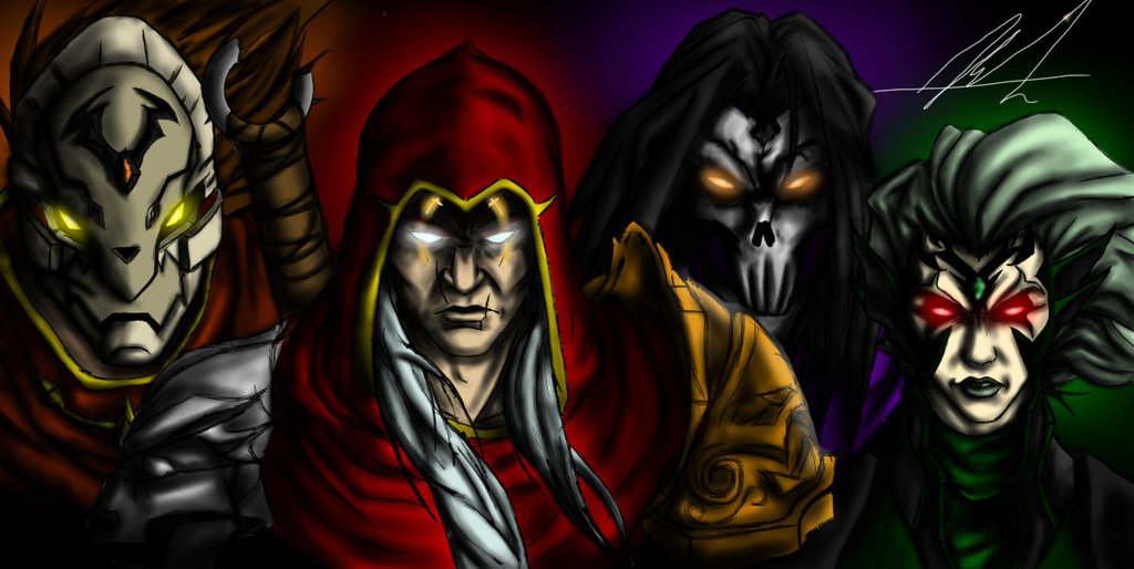 Darksiders   Four Horsemen by StrangerOfTheEast 1024x514