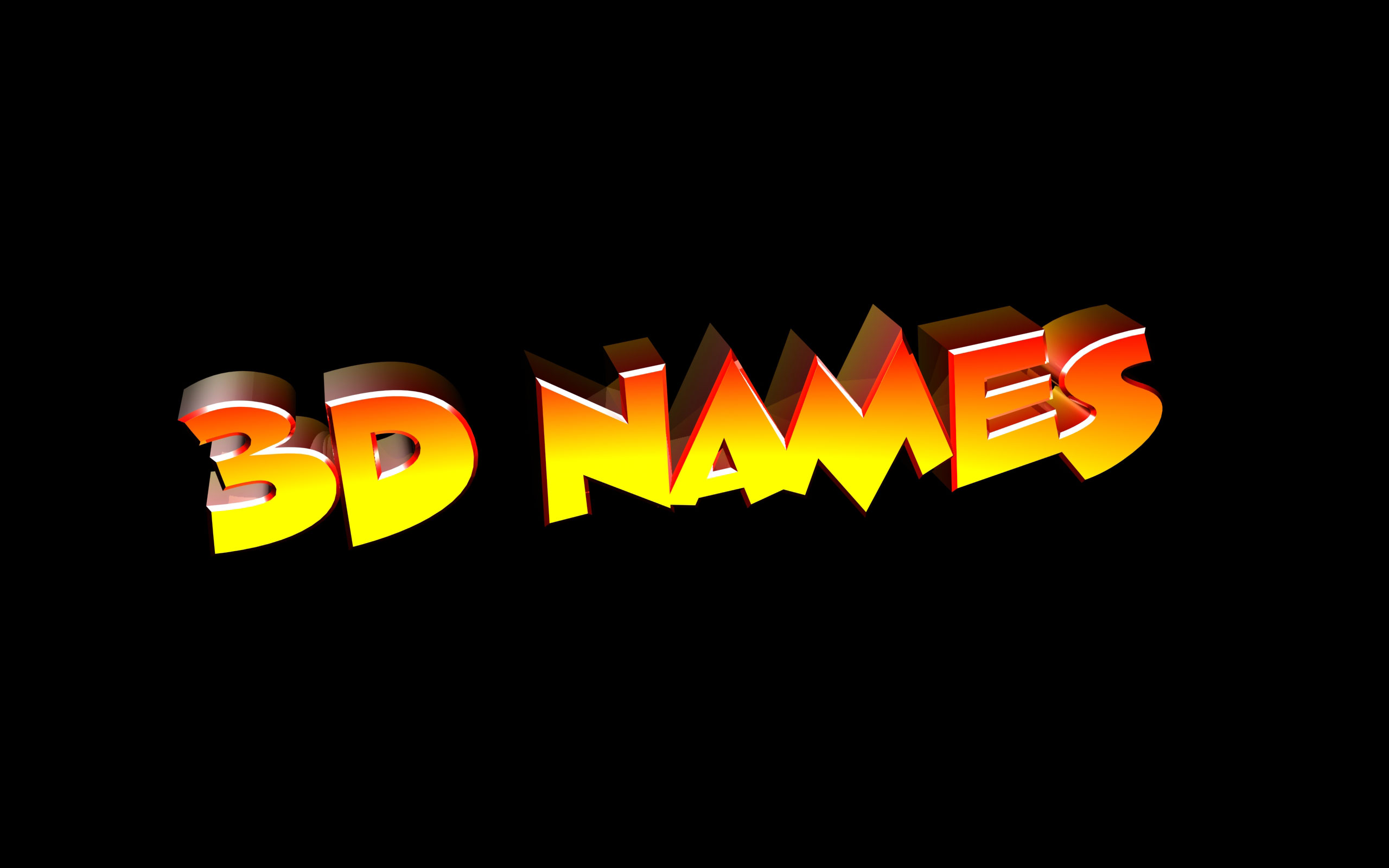 3d Name Wallpapers 2560x1600