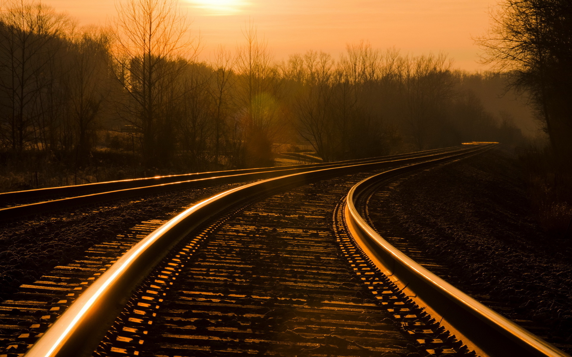 Trains railroad tracks 1920x1200