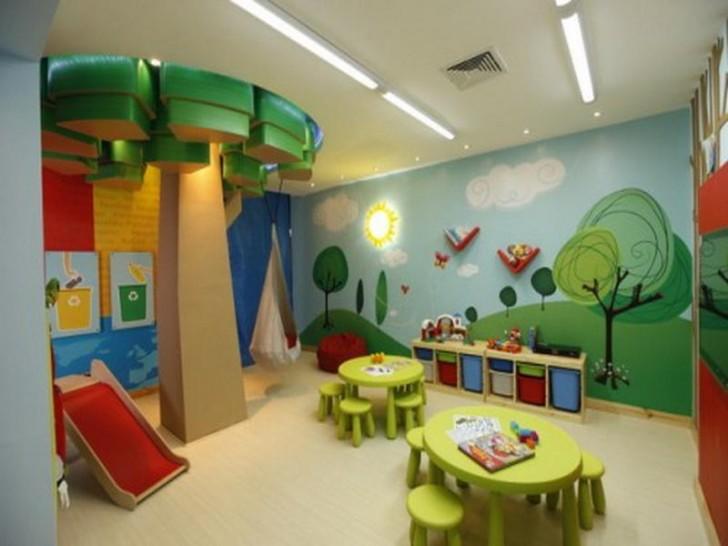 Home Wallpaper Wonderful Playroom Wallpaper Cartoon Character 728x546