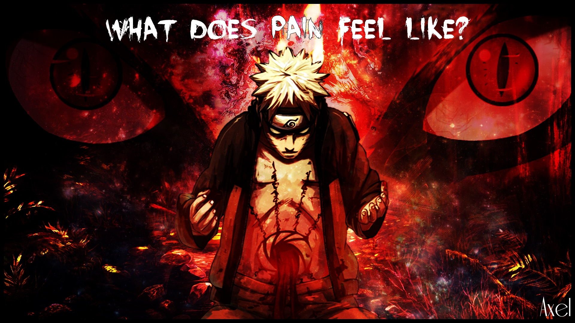 Naruto What Does Pain Feel Like Naruto open his seal for Kyuubi 1920x1080