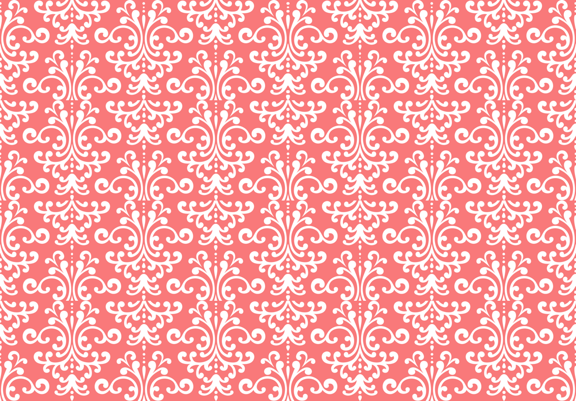 Coral Color Wallpaper Patterns Damask coral and white 1132x788