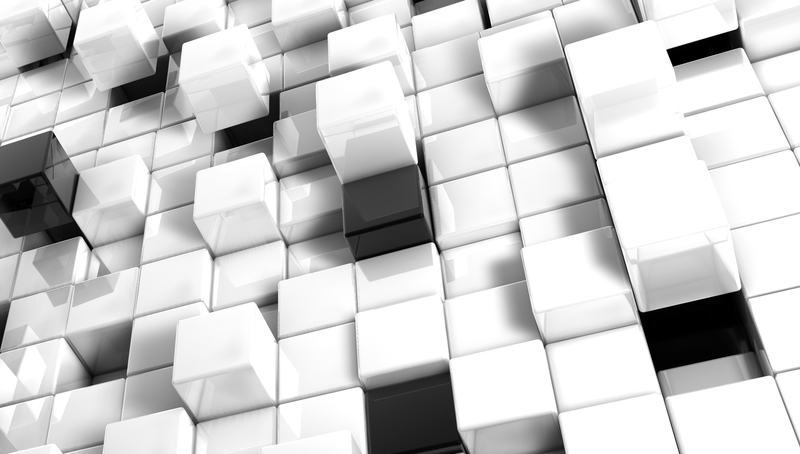 3d view abstract black white blocks cgi cubes backgrounds 3d Wallpaper 800x454
