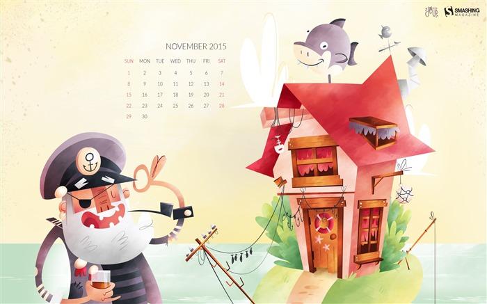 November 2015 Calendar Desktop Themes Wallpaper Wallpapers List - page ...