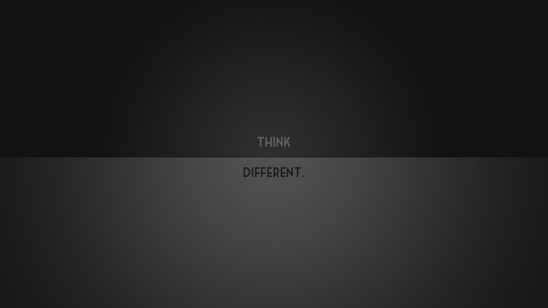 1920x1080 Minimalistic Think Different desktop PC and Mac wallpaper 1920x1080