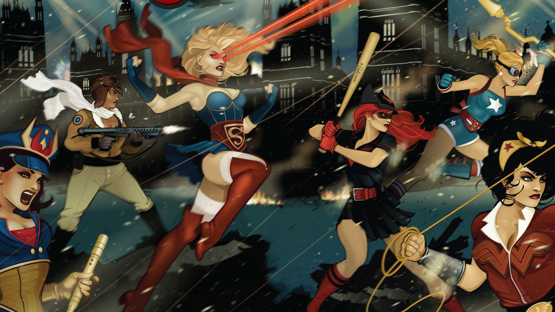 Batwoman DC DC Bombshells Stargirl Supergirl Superhero 1920x1080