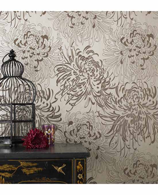 Modern Floral Wallpaper pueblosinfronterasus