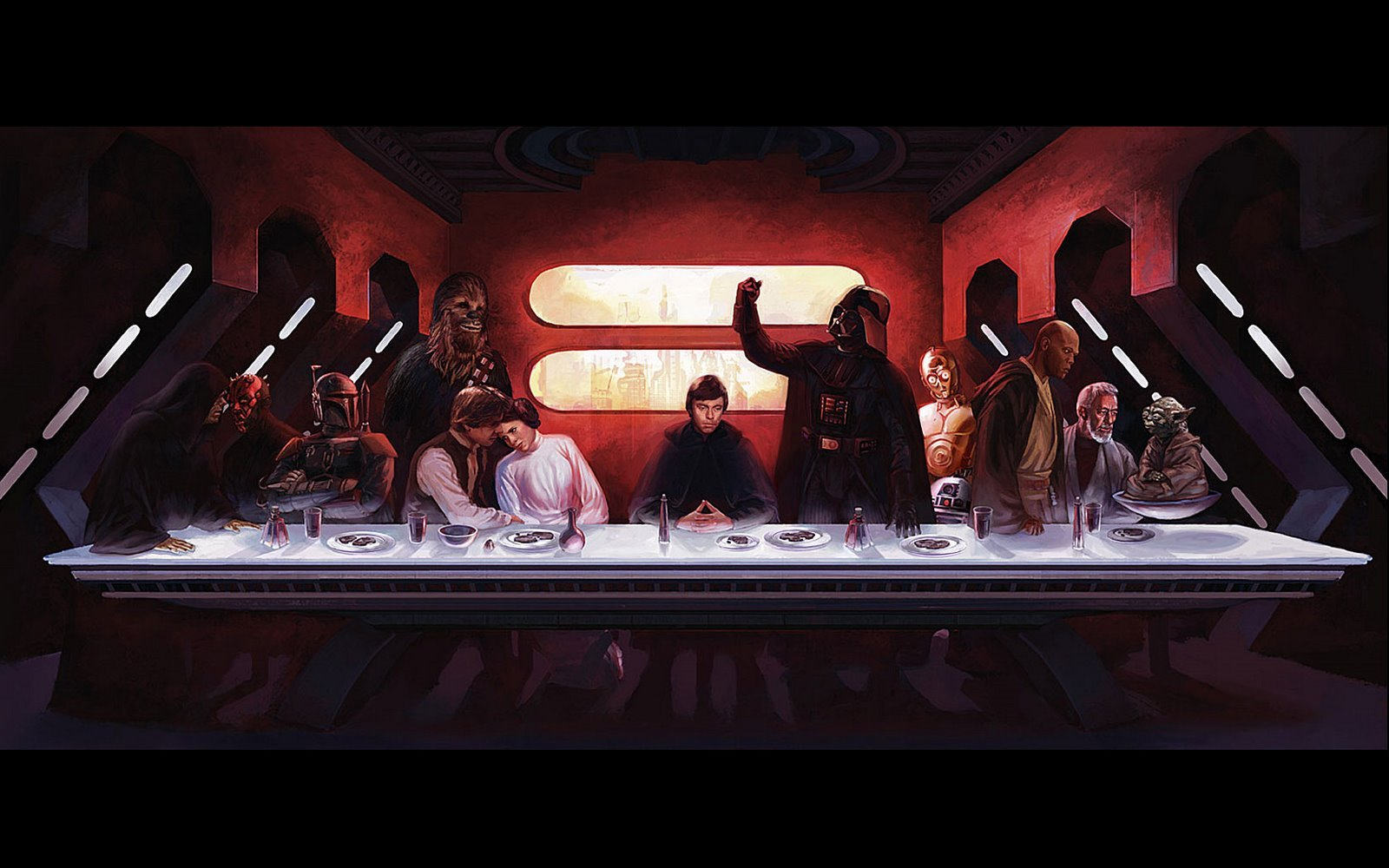 Star Wars Wallpaper The Last Supper Kenmoo 1600x1000