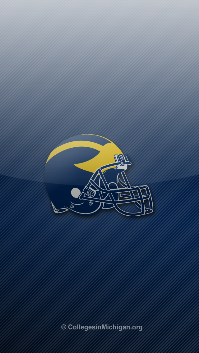 michigan wolverines logo wallpaper   wwwhigh definition wallpapercom 640x1136