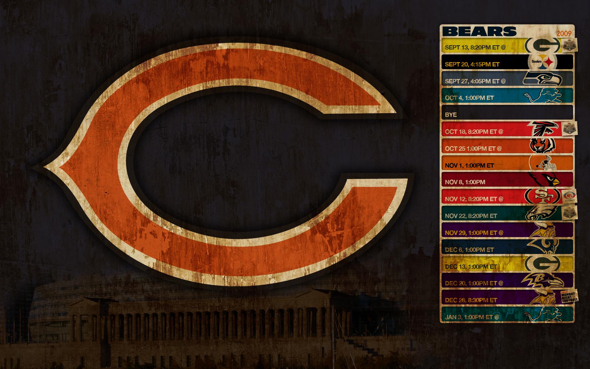 chicago bears schedule schedule 1920x1200