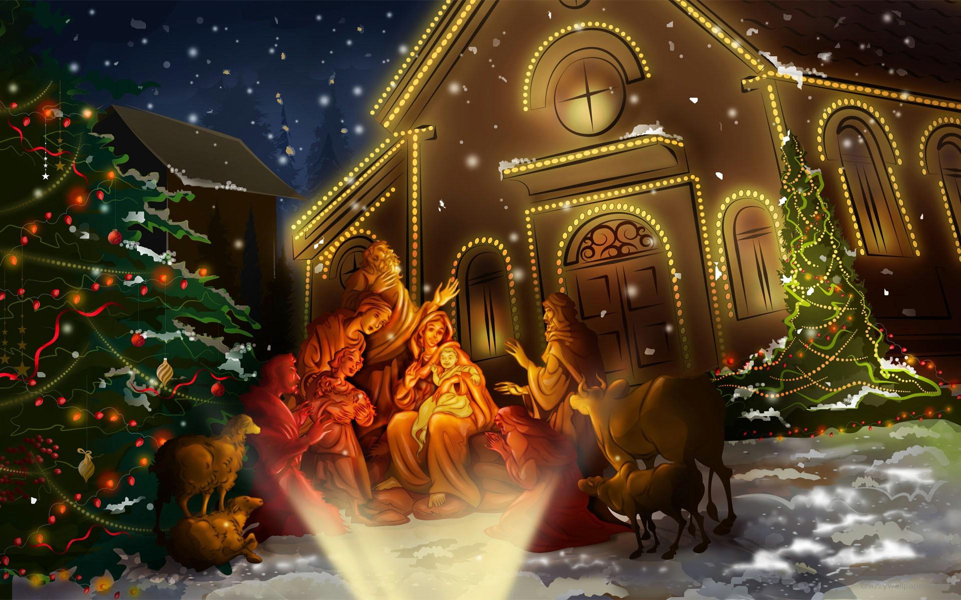 3d Animated Christmas Church Wallpaper 8969 Wallpaper computer best 1920x1200