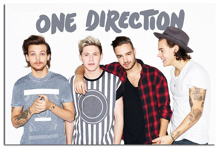One Direction Without Zayn Landscape Poster New Maxi Size 36 x 24 Inch 744x497