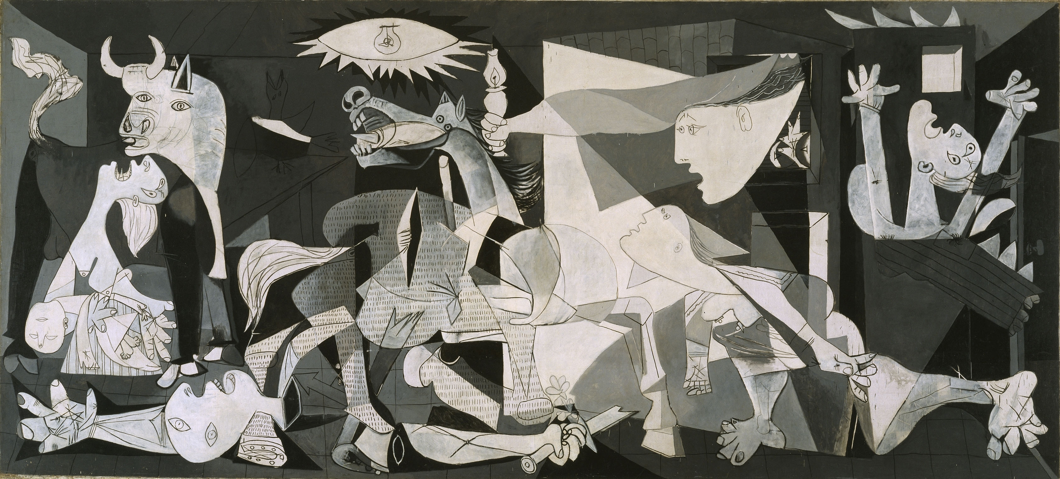 Wallpapers Download 3369x1523 pablo picasso guernica Wallpaper 3369x1523