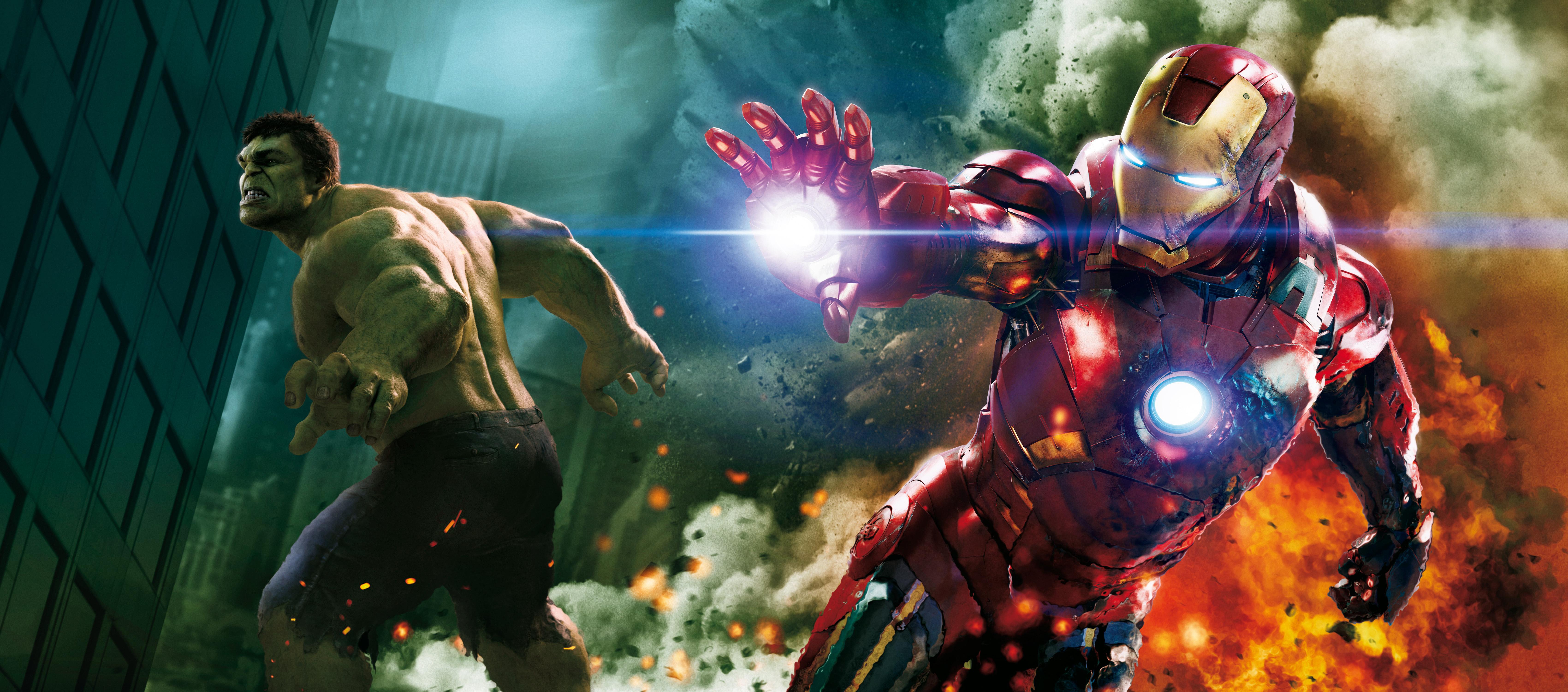 4K wallpaper   Films   iron man The Avengers the battle Halak 6800x3000