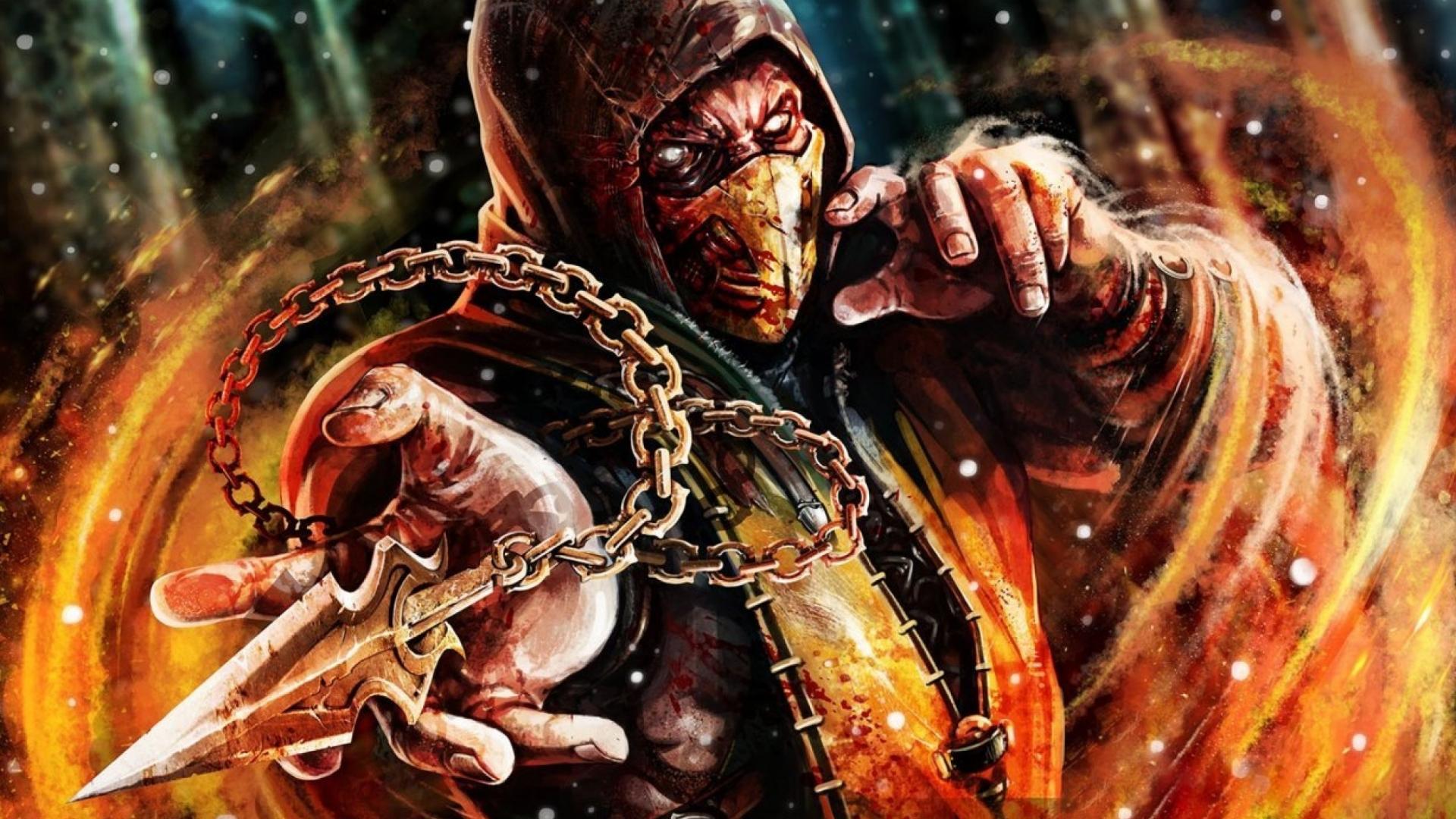 Mortal Kombat X Scorpion Desktop Wallpaper 1920x1080