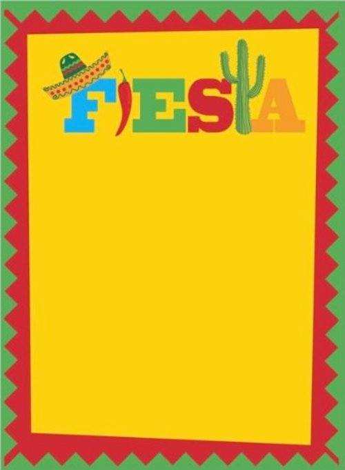 Mexican Fiesta Border Red mexican border with a 500x681
