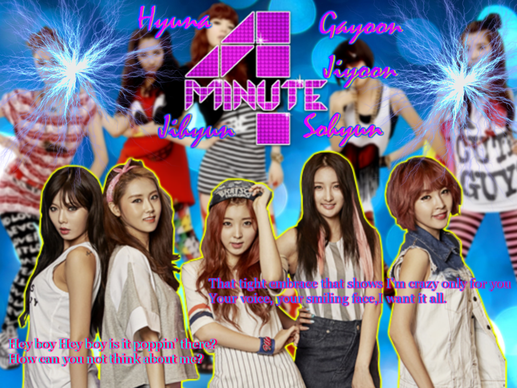 4Minute Wallpaper by vi3tb3b3Hyuna 1024x768
