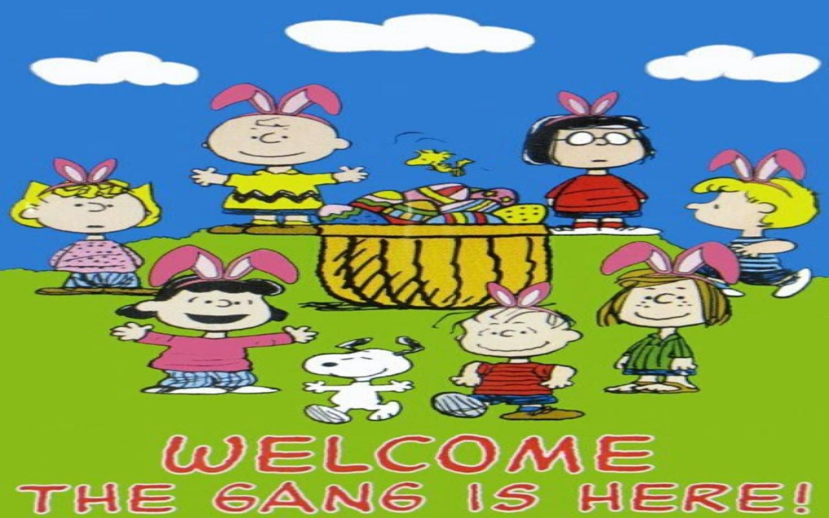 im789 Charlie Brown Easter Wallpaper 1680x1050   Picseriocom 1680x1050