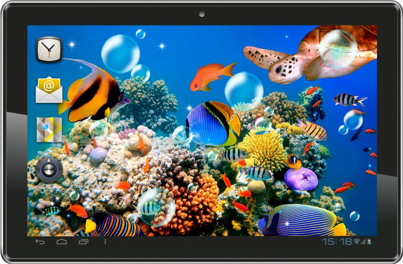 Fish aquarium wallpaper wallpapersafari for Desktop fish tank