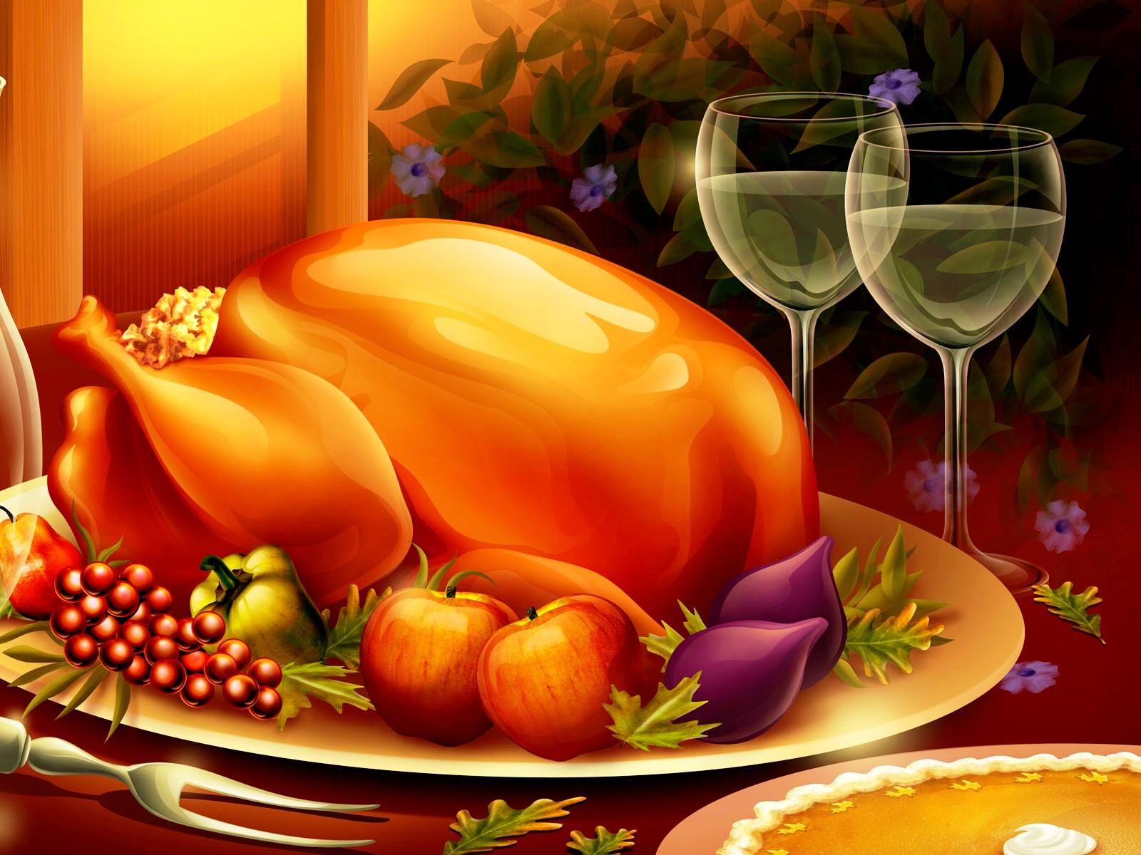 3D Thanksgiving Wallpapers HD 1600x1200