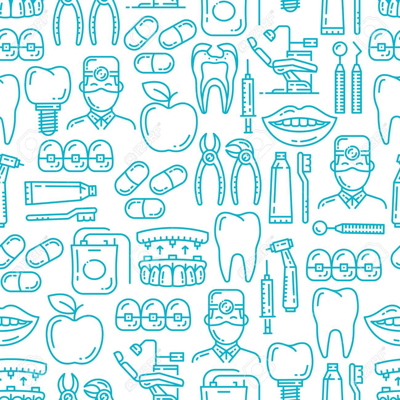 Dental Medicine Seamless Patter Vector Background Of Dentistry 1300x1300