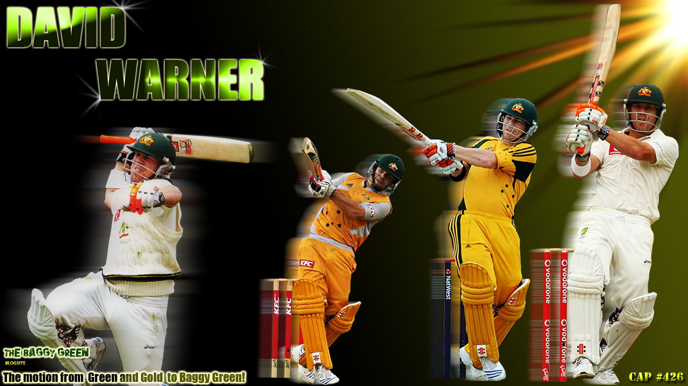 David Warner Wallpaper HD 1366x768
