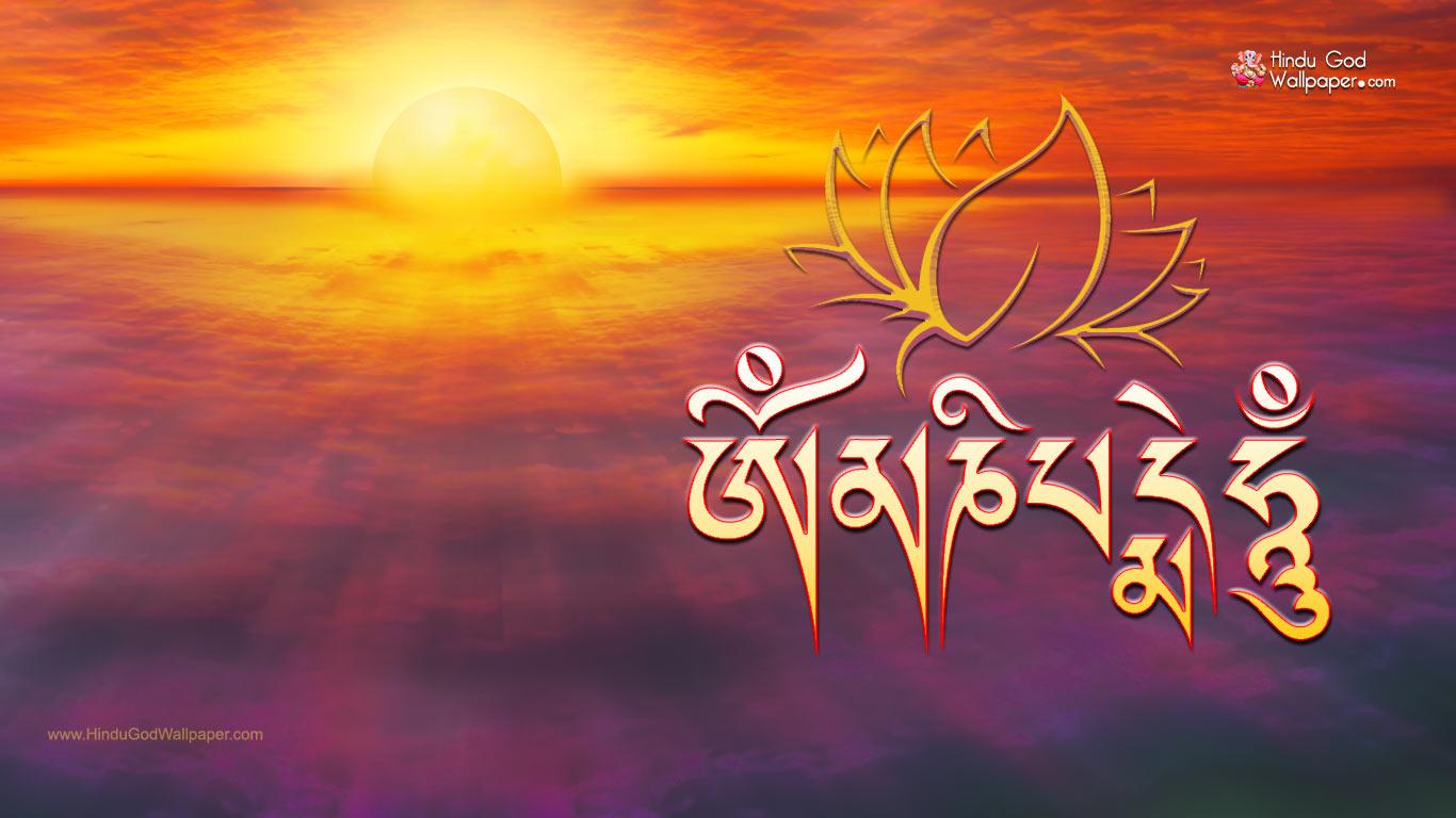 Om Mani Padme Hum Wallpaper HD 1366x768