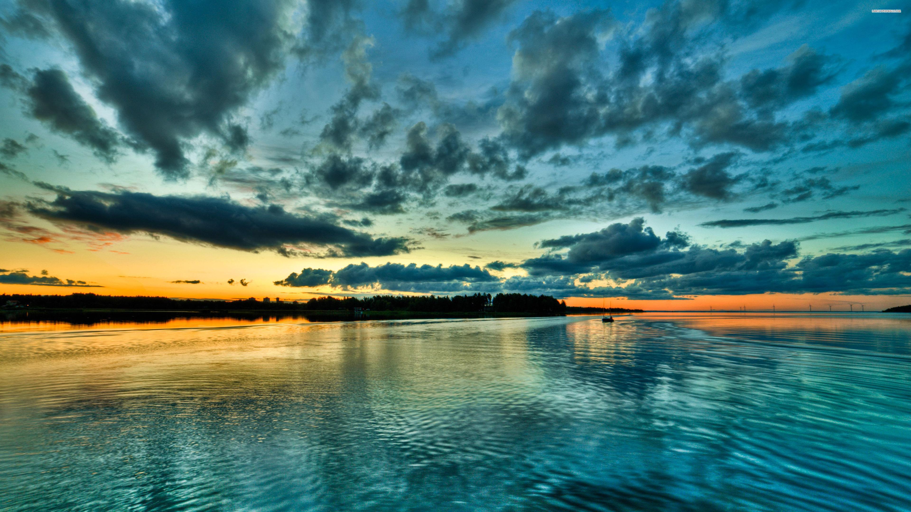 Blue Sunset 4K Wallpaper HD 728 Wallpaper Download HD Wallpaper 3840x2160